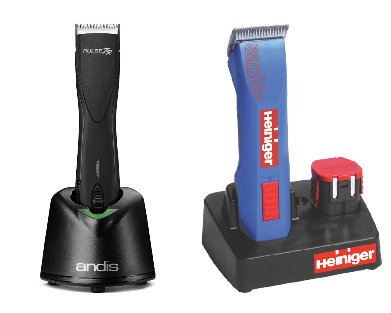 Andis Pulse ZR Cordless vs Heiniger Saphir Cordless Clipper