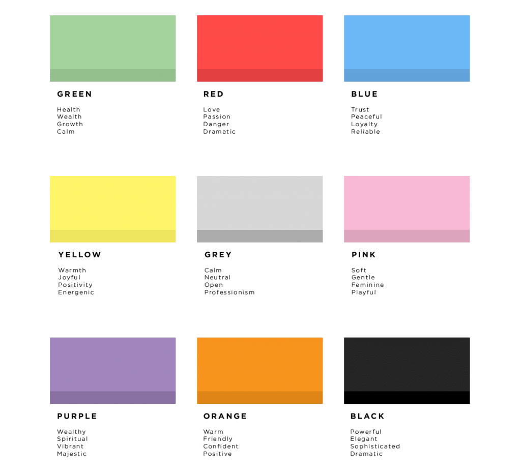 Colour Psychology Meanings